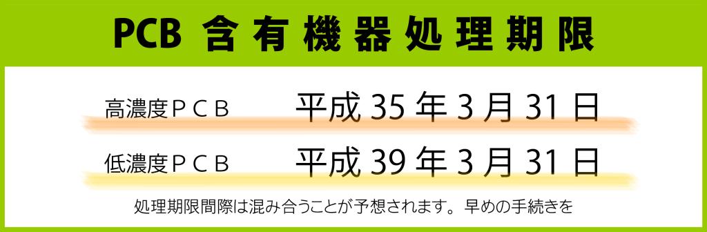 PCB含有機器処理期限